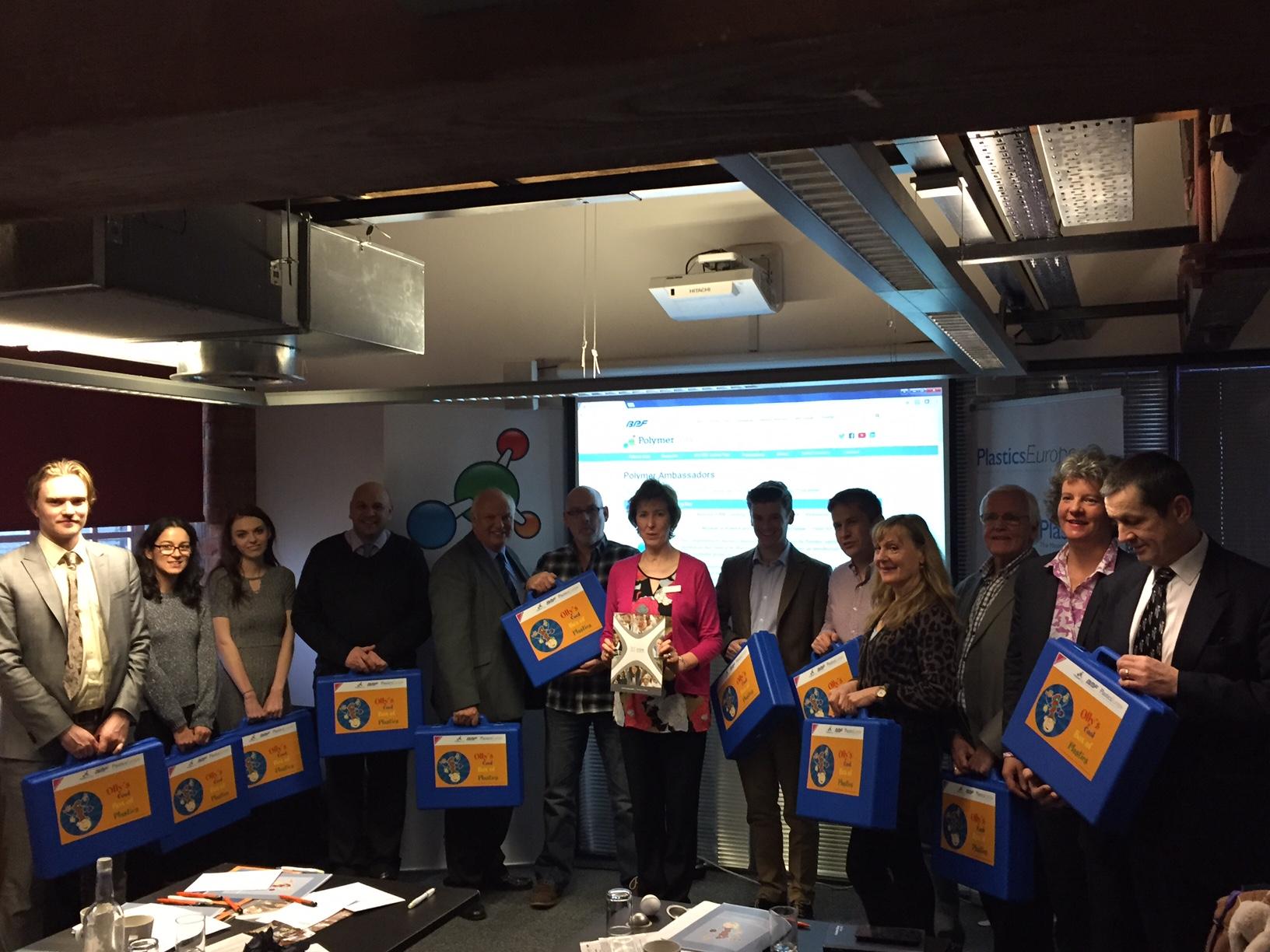 Seminarteilnehmer in Manchester nach dem Olly-Seminar